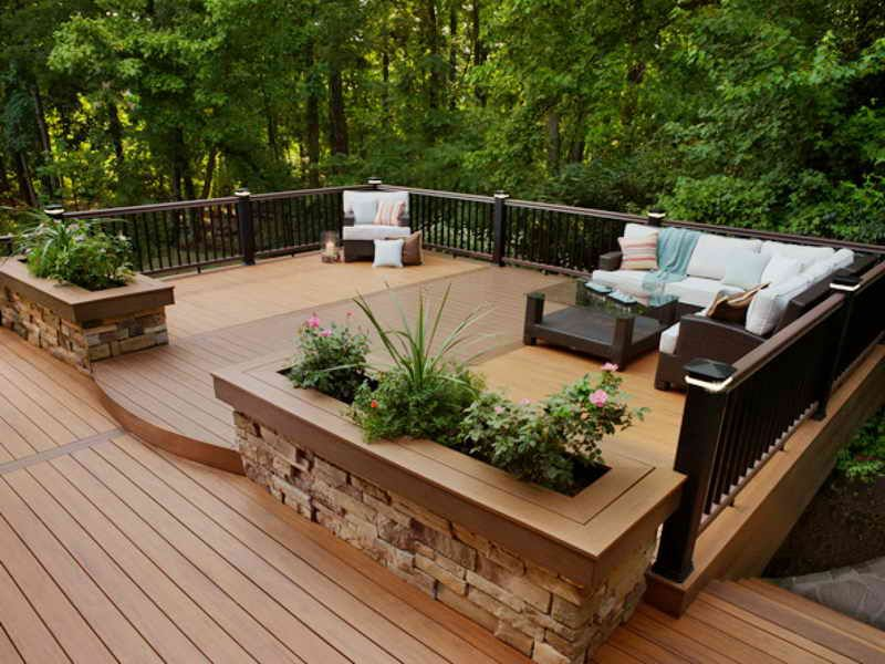 Deckscaping IdeasBackyard Wood Deck Designs Wood Deck Designs Ideas Extraordinary Backyard Deck Designs Plans