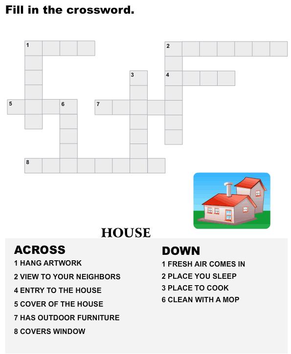 Vocabulary Crossword Kindergartens - esl-efl Worksheets - kindergarten Worksheets  sc 1 st  Pinterest & Vocabulary Crossword Kindergartens - esl-efl Worksheets ... 25forcollege.com