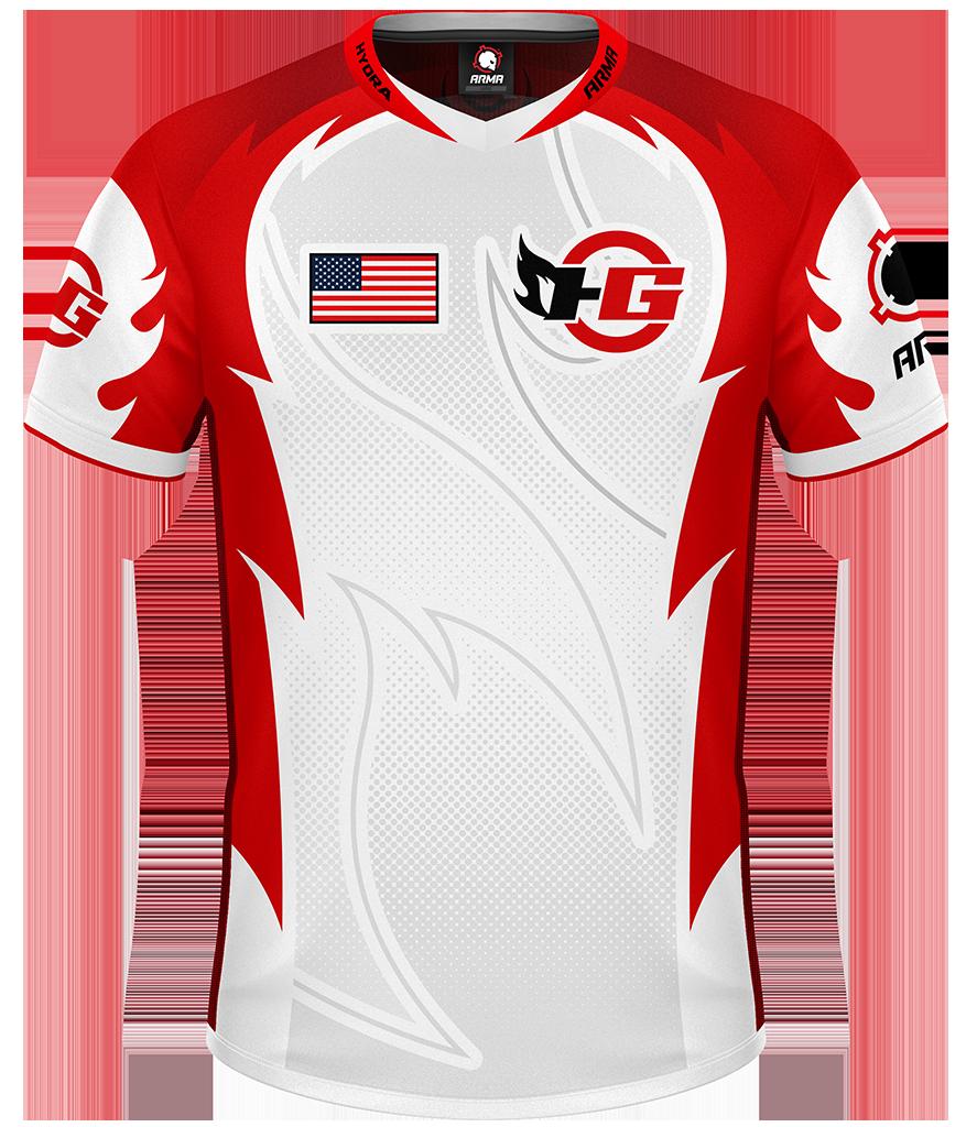 57d837a4cb0 Hydra 2019 ELITE Jersey - White   EliteJersey   Hydra   ARMA   Custom  Esports Jerseys   Esports Jerseys   Gaming Apparel