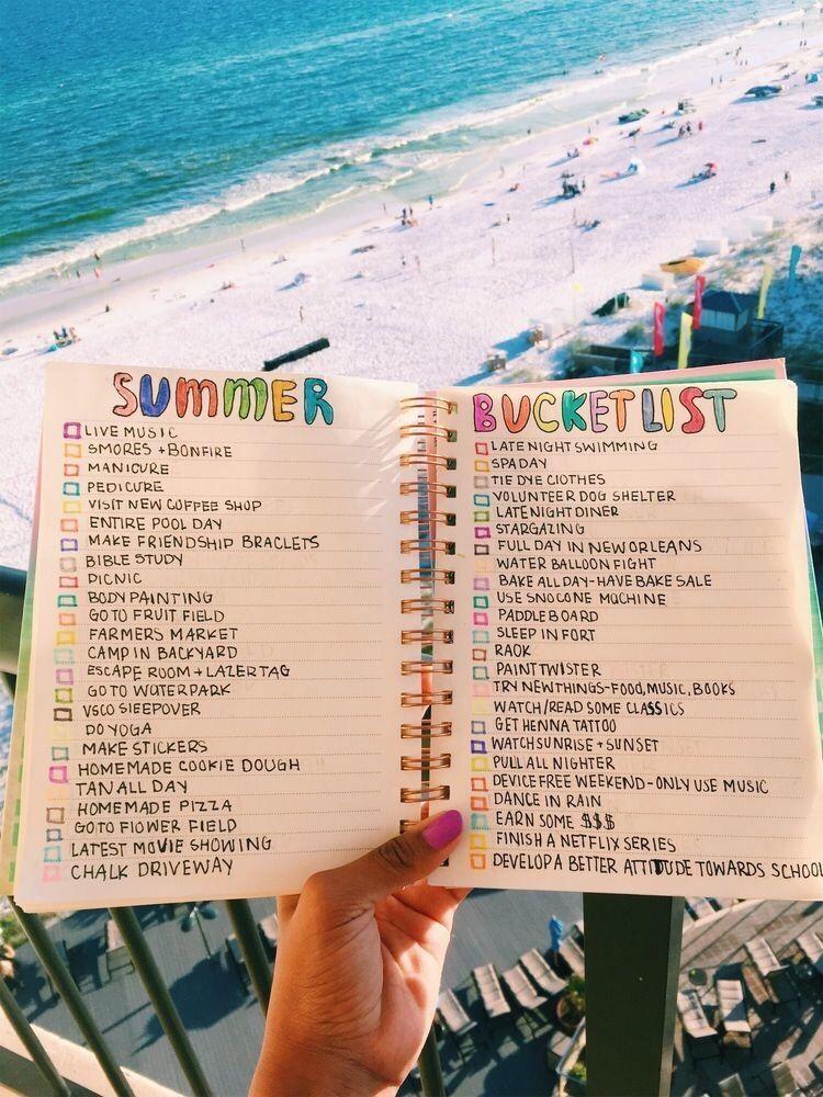 How to Start a Summer Bullet Journal