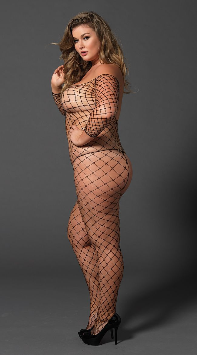 73d7ec9e06 Plus Size Fence Net Bodystocking