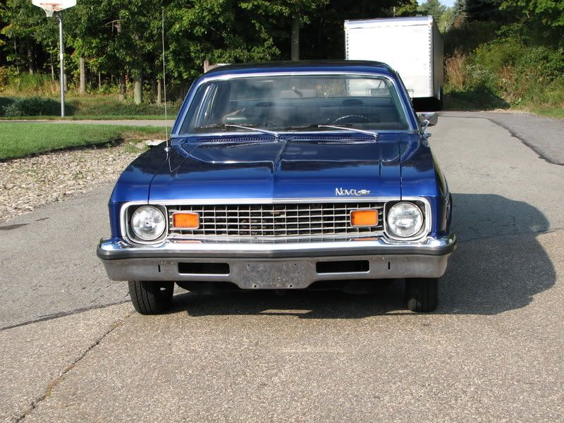 My 8th Car Was A Blue 1973 Chevy Nova 4 Door 307 Engine Like This Car A Lot Had Black Vinyl Top Bought It In 1983 Chevy Nova Black Vinyl Chevy