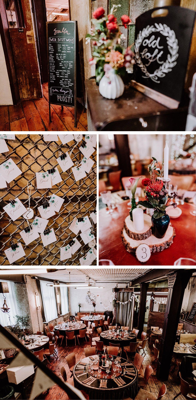 Boho Tischdeko DIY Hochzeit Ideen Baumscheiben rustikal vintage Hochzeitsdekoration - Hochzeit Berlin Friedrichshain in Hochzeitslocation Old Smithy's Dizzle von Boho Hochzeitsfotograf © www.hochzeitslicht.de #hochzeitslicht