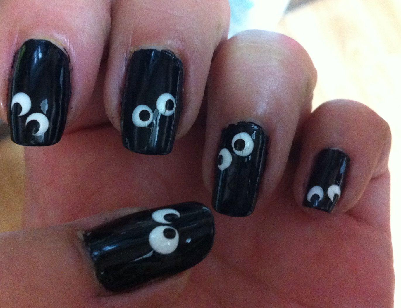 Googly eyes, Halloween nails. #LauriesOwnNails #nails # ...