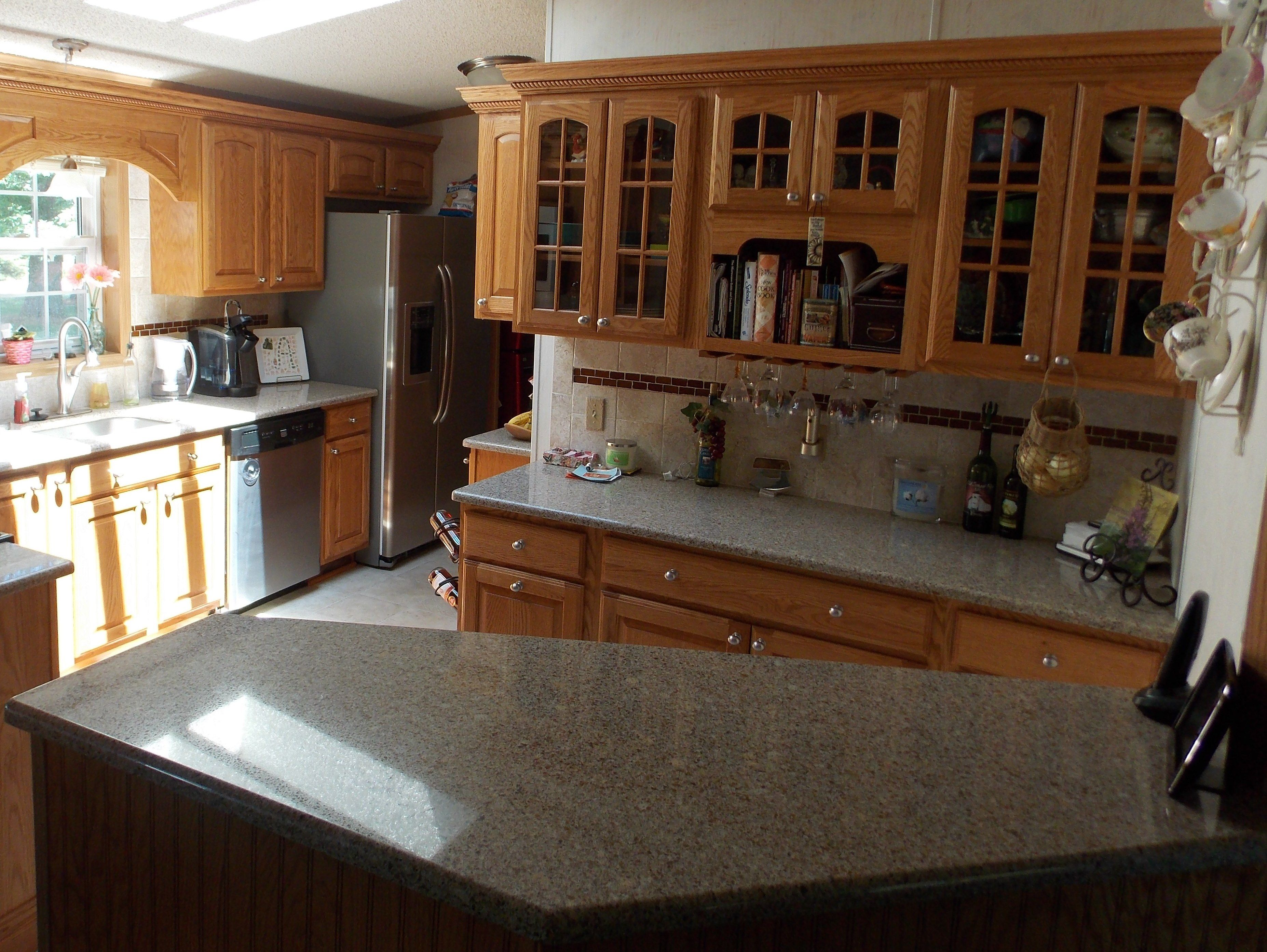 Kitchen remodel using American Olean tile Medallion Napa Valley
