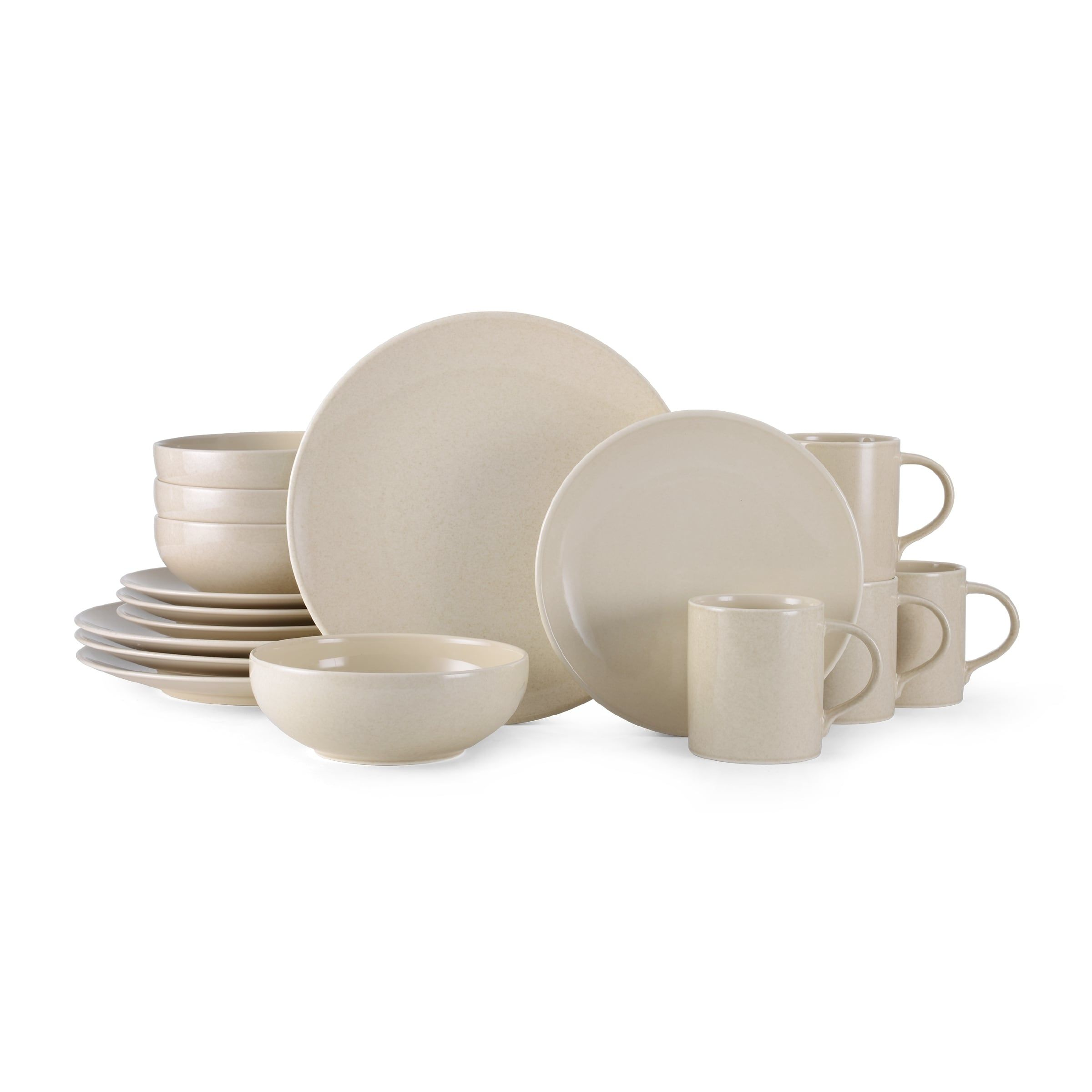 Mikasa Benson Beige Ironstone 16-piece Dinnerware Set - Free Shipping Today - Overstock.  sc 1 st  Pinterest & Mikasa Benson Beige Ironstone 16-piece Dinnerware Set - Free ...