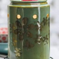 Metal Petal Scentsy Warmer | Scentsy™ Online Store. Welcome spring as hand-painted pewter flowers and dainty butterfly flutter across a seafoam background. Available on March 1, 2014.