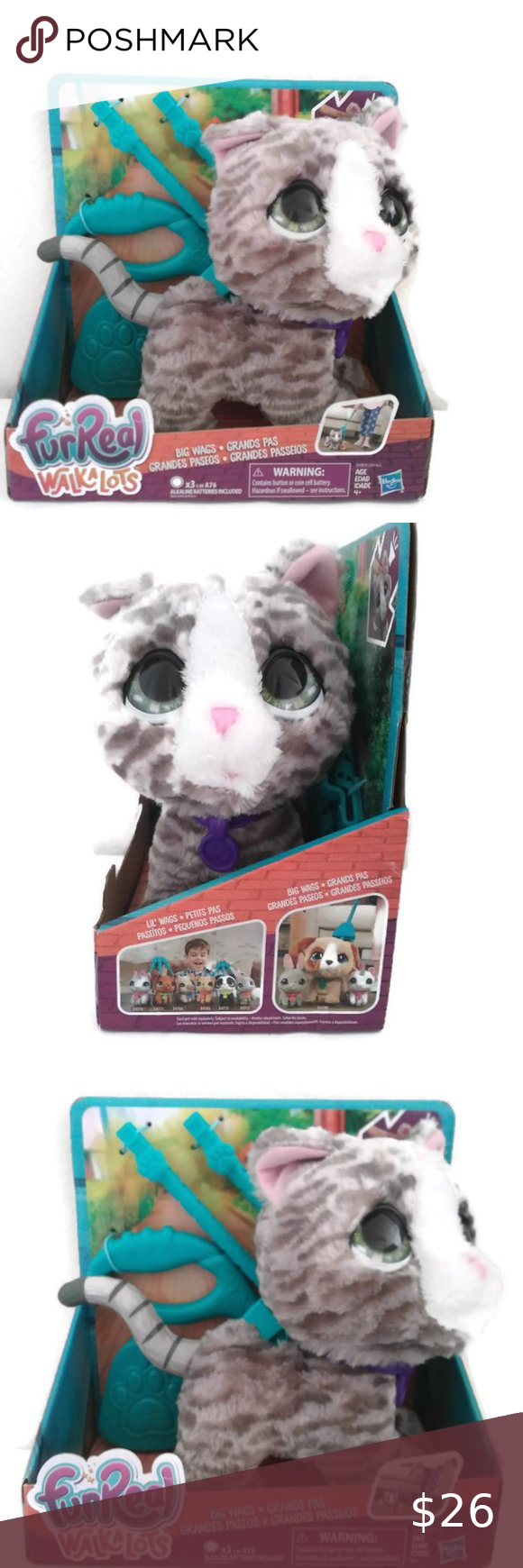 Furreal Big Wags Kitty Walkalots Furreal Walkalots Big Wags Kitty This Toy Is Just Perfect For Kids Ages 4 And Up Furreal Pet In 2020 Kitty Doll Accessories Pet Toys
