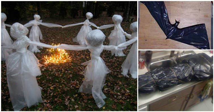 You Didn\u0027t Know Trash Bags Could Make These 12 Scary Halloween - cool halloween decorations you can make