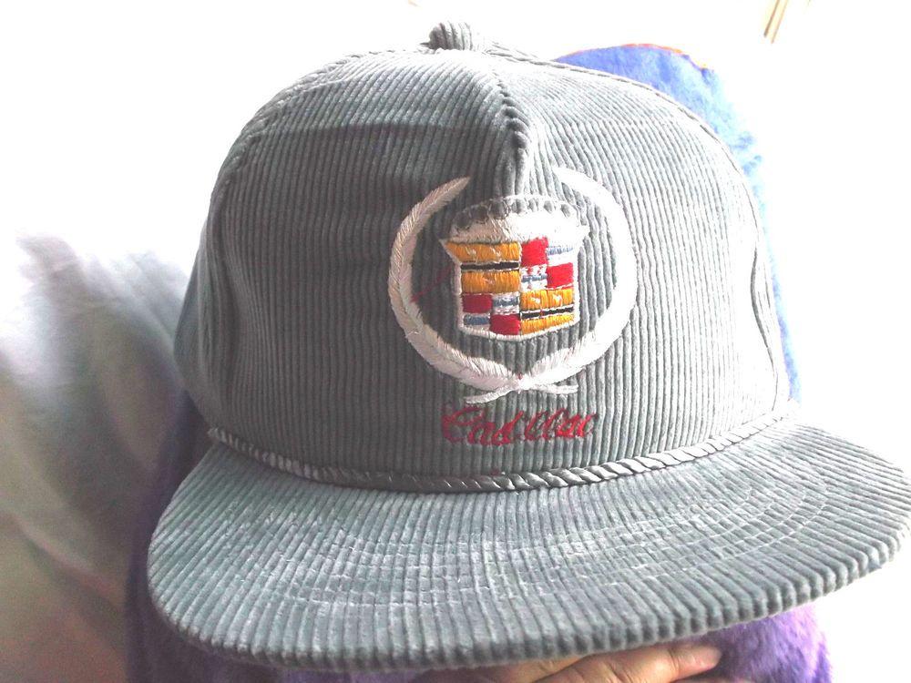 Vintage Embroidery 1 Size Fits All Cadillac Corduroy Baseball Cap!Gray   Cadillac  BaseballCap 65560729c5fb