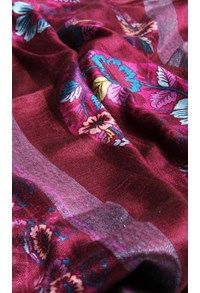 Semi Pashmina,The Carpet Cellar,Alpaca Linen Printed Stole