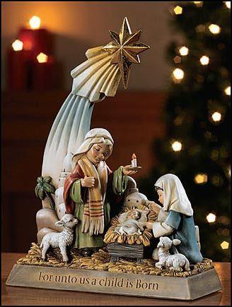 A Child Is Born Nativity Figurine