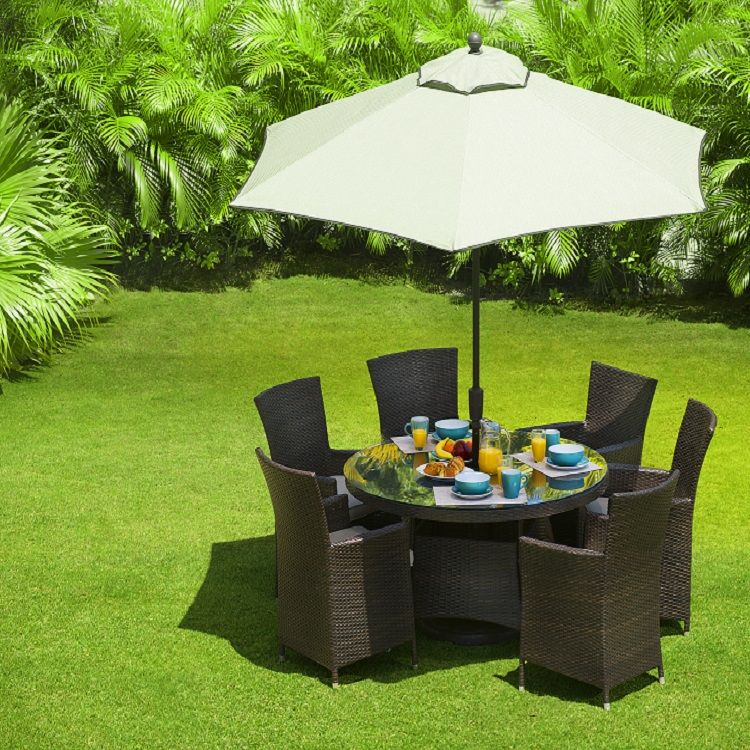 Juego de comedor para jardín muy elegante de alta calidad ideal para tomar el desayuno en