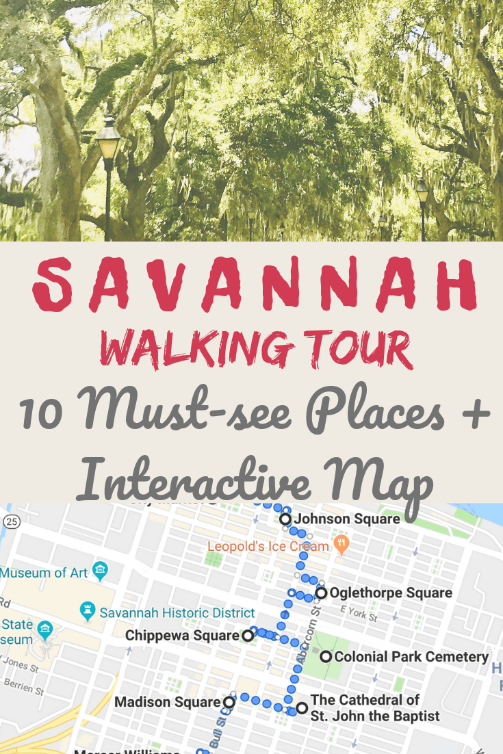 Savannah Georgia Travel Tips I This Walking Tour Of Savannah That Shows You The Best Things To Do In This Savannah Chat Georgia Travel Savannah Georgia Travel