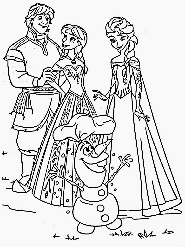 Download Free Frozen Frozen coloring pages, Kids
