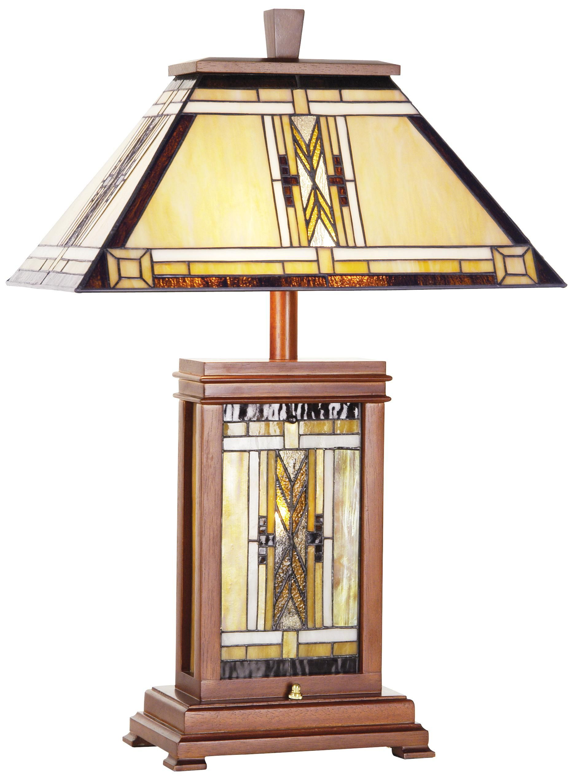 Walnut Mission Collection Tiffany Style Table Lamp 29553 Lamps Plus Tiffany Style Floor Lamps Tiffany Style Table Lamps Rustic Table Lamps