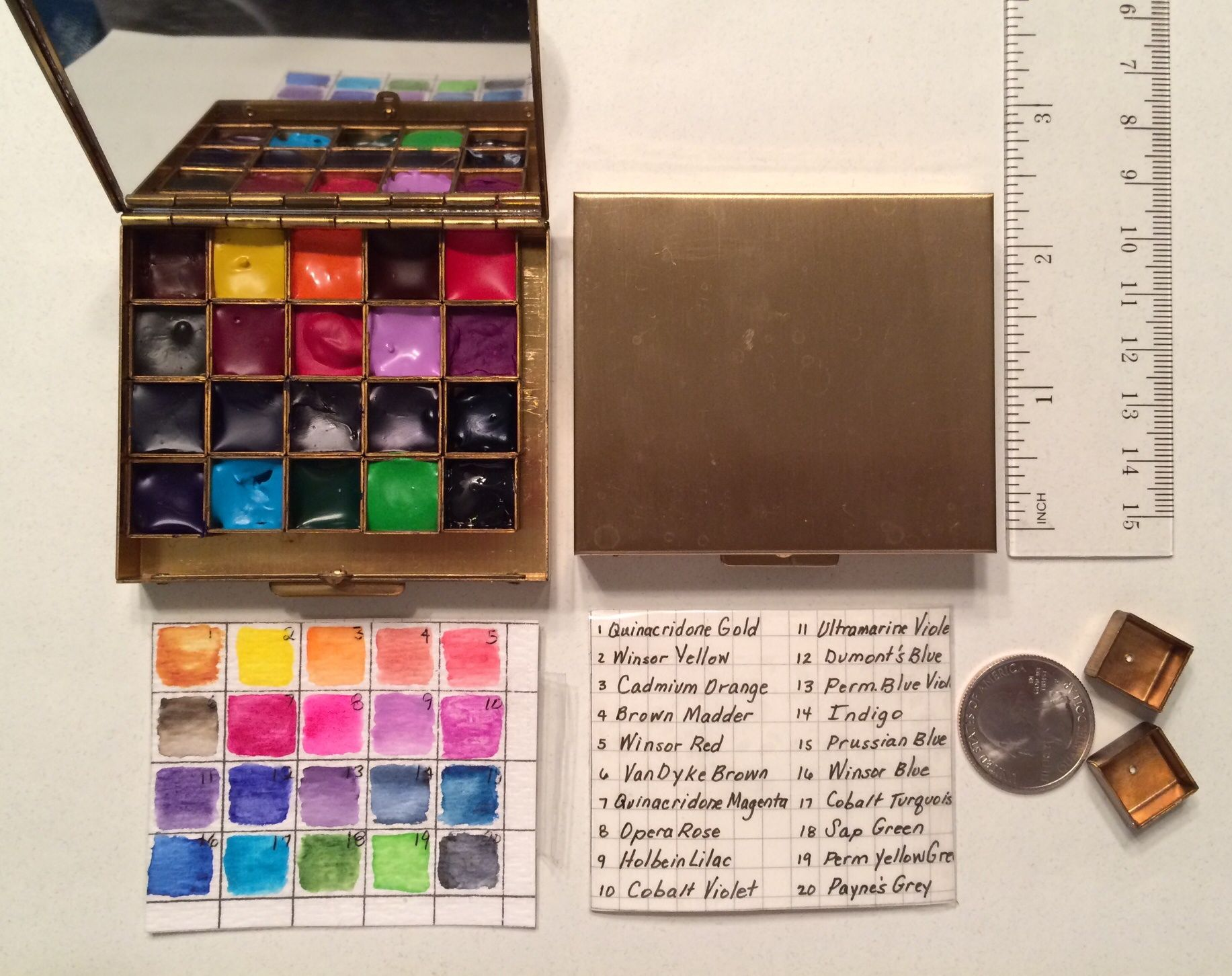 Yet Another Watercolor Palette Layout Video This One With A