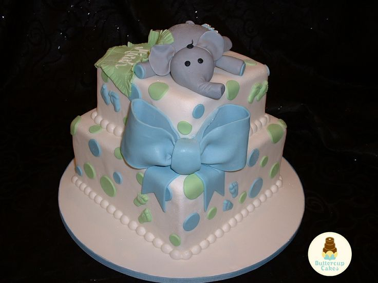 Elephant Baby Shower Cake   Elephant Baby Shower Cake