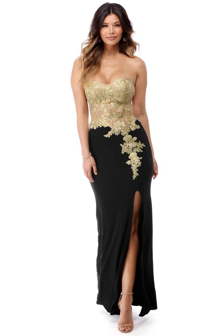 Neve Gold Goddess Applique Dress | PROM DRESSES | Pinterest ...