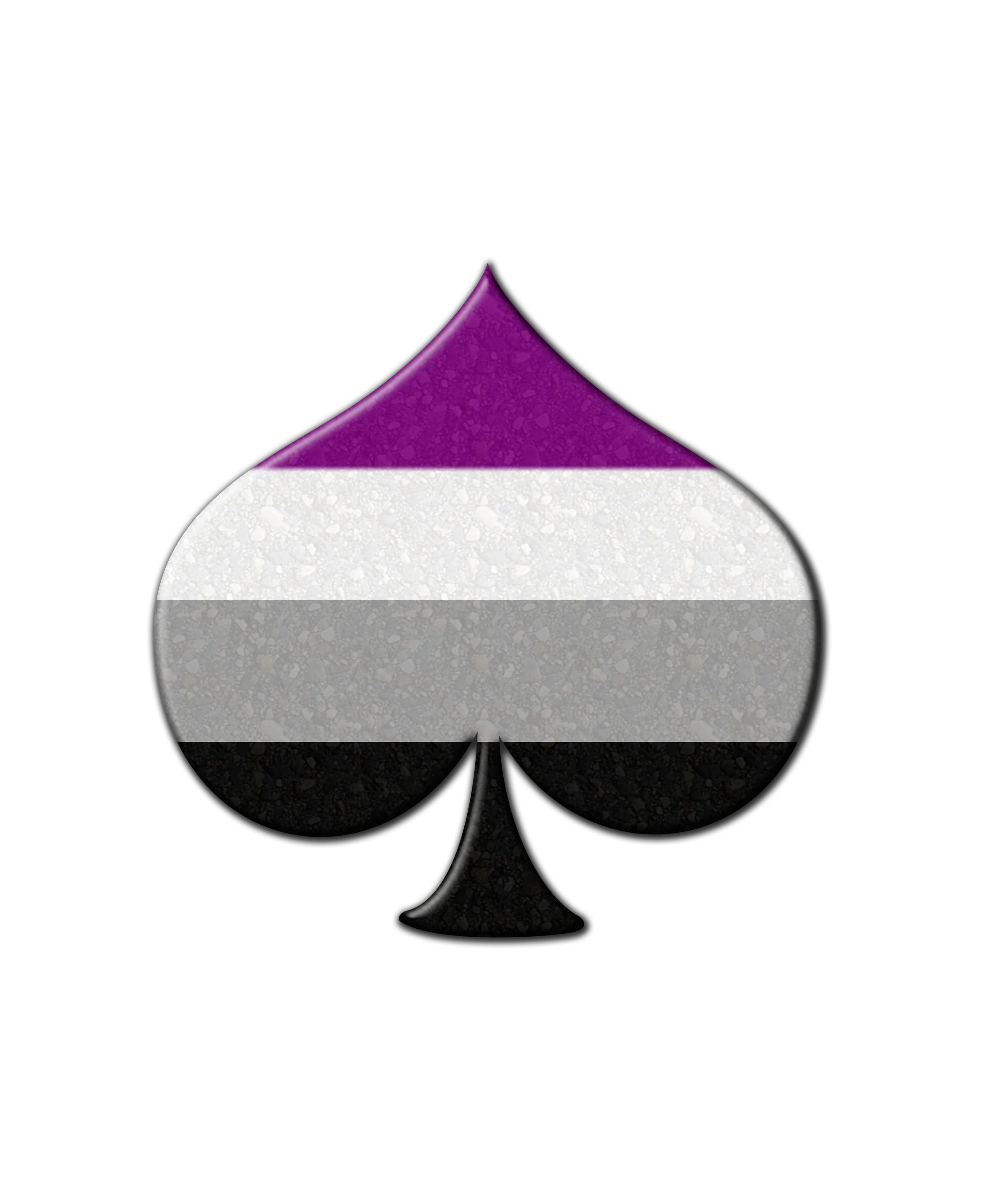 Asexual spade symbol in matching pride flag colors click to view asexual spade symbol in matching pride flag colors click to view merchandise available on zazzle biocorpaavc Choice Image