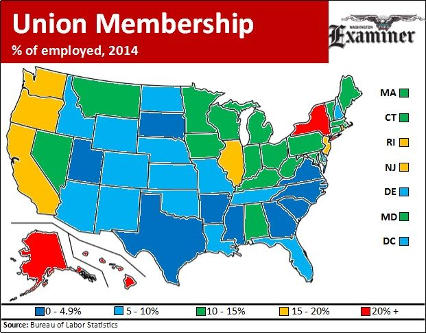 Pin on Just Sayin Union Right Work State Map on union confederate map state names, union membership by state, united states map, right to work state and map,