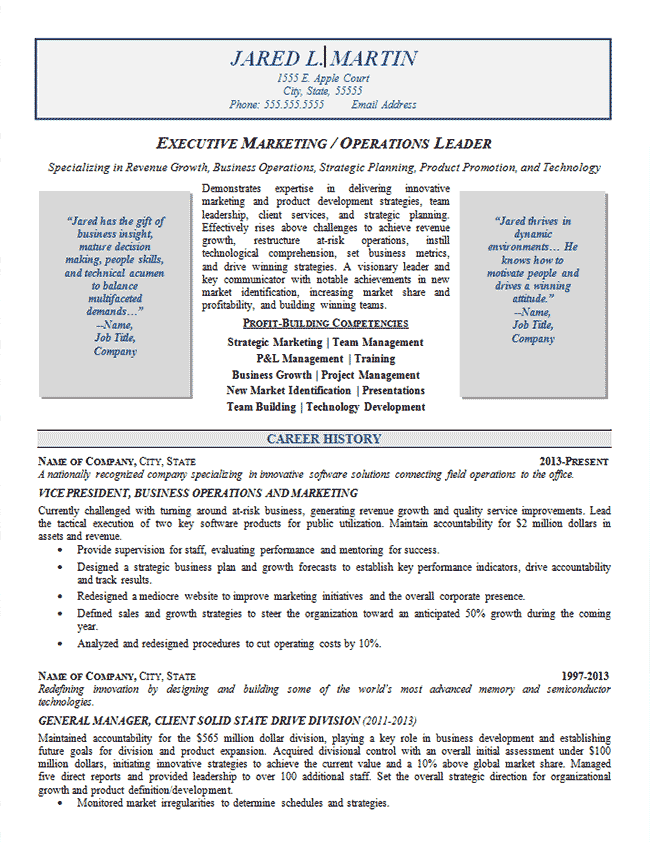 Marketing Resume Skills Marketing Operations Resume Example  Resume Examples
