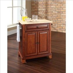 Very pretty and pretty useful, portable kitchen cabinet with granite  top.
