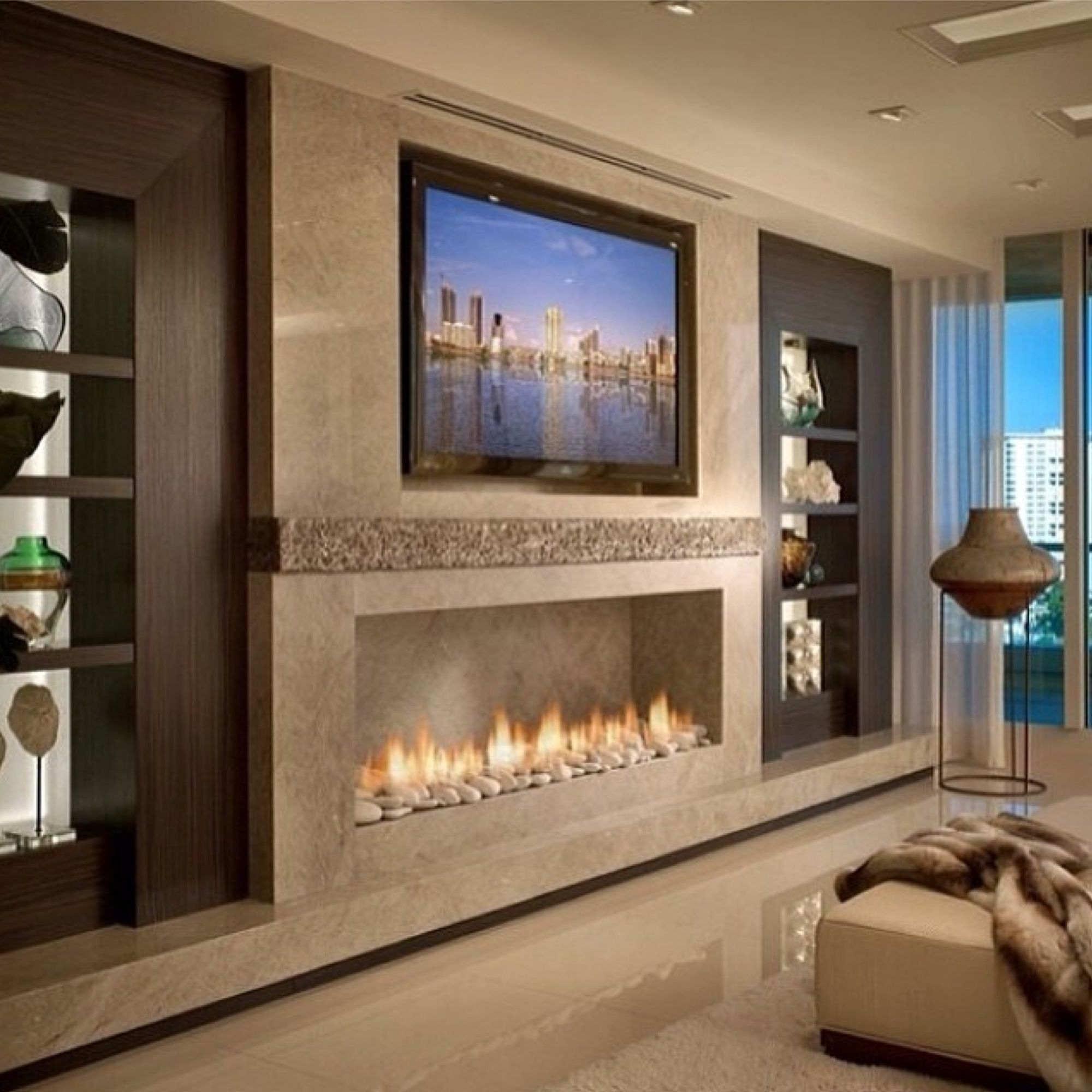Pin by nunzia della rocca on houses and places pinterest - Bedroom electric fireplace ideas ...