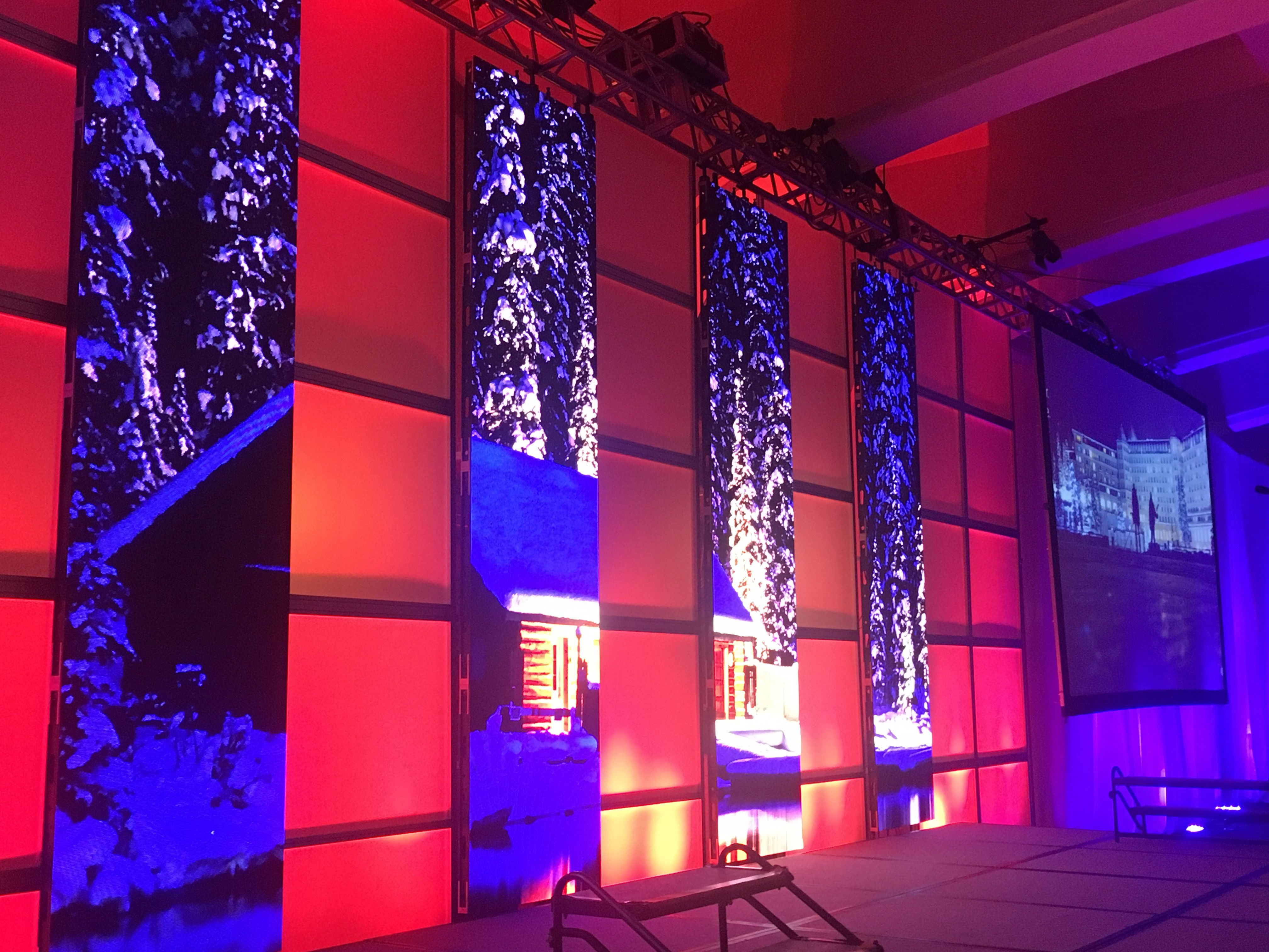 Vertical Led Screens For Stage Backdrop