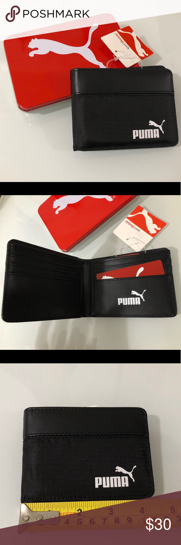 Puma Sport Lifestyle Bifold Men S Wallet Tags On Great Guy See Photos For Measurements Puma Bags Wallets Clothes Design Fashion Tips Fashion Design