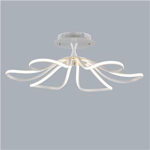 Deckenleuchte Modern eu lager led deckenleuchte modern floral design aus acryl weiß