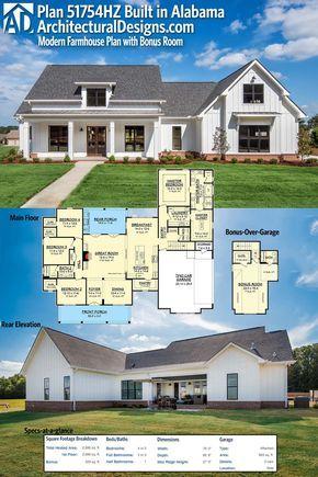 architectural designs modern farmhouse plan 51754hz was built in rh pinterest com