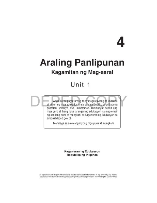 Pin On Araling Panlipunan 4