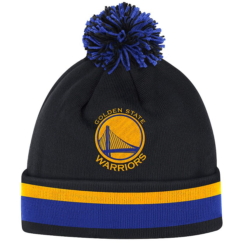 Shop this Golden State Warriors Mitchell   Ness Team Stripe NBA Knit Beanie  - Black   other NFL e971fbe8023