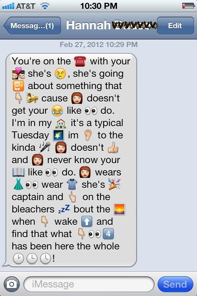text stories using emojis to flirt