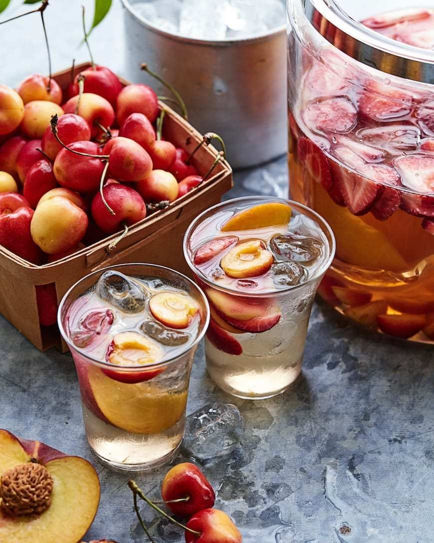 Summer Treats 9 Easy Cherry Recipes You Ll Love Carly A Hill In 2020 Sangria Recipes Strawberry Sangria Strawberry Drinks