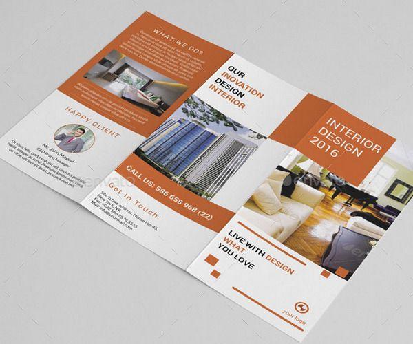 Interior Design Brochure Template Broşür Pinterest Brochures - interior design brochure template