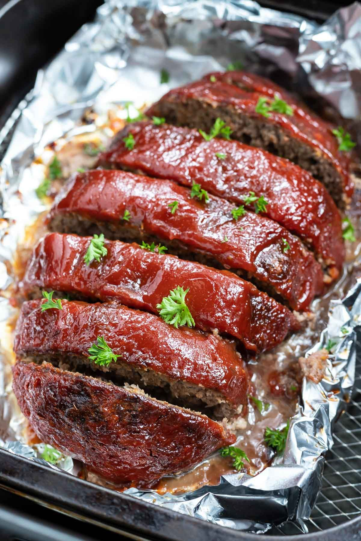Meatloaf in an Air Fryer is an easy dinner for weeknights