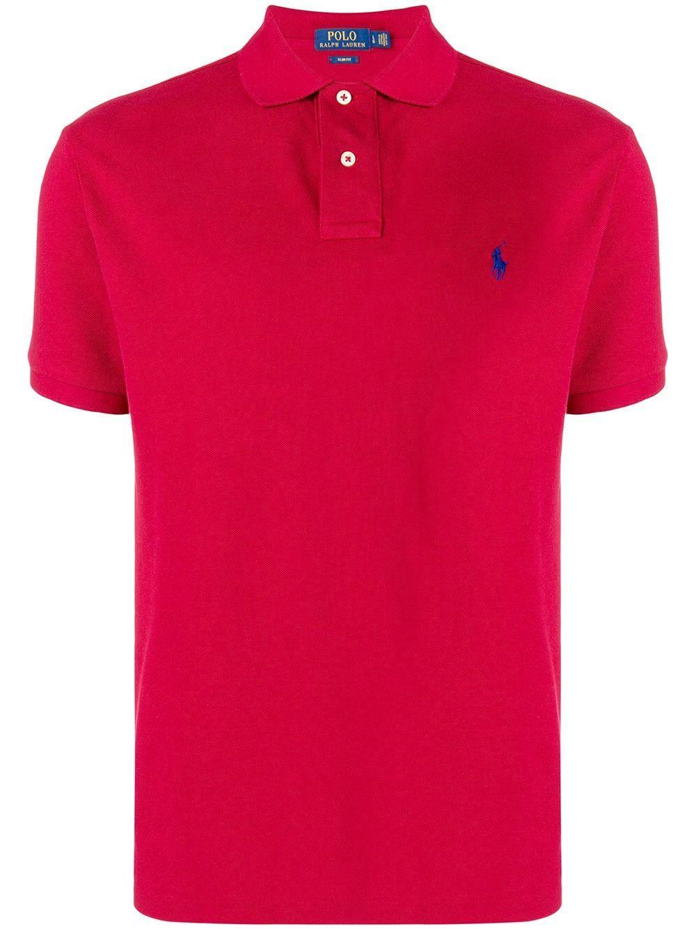 POLO RALPH LAUREN POLO RALPH LAUREN CLASSIC BRAND POLO SHIRT - RED.   poloralphlauren  cloth 75aa453e63