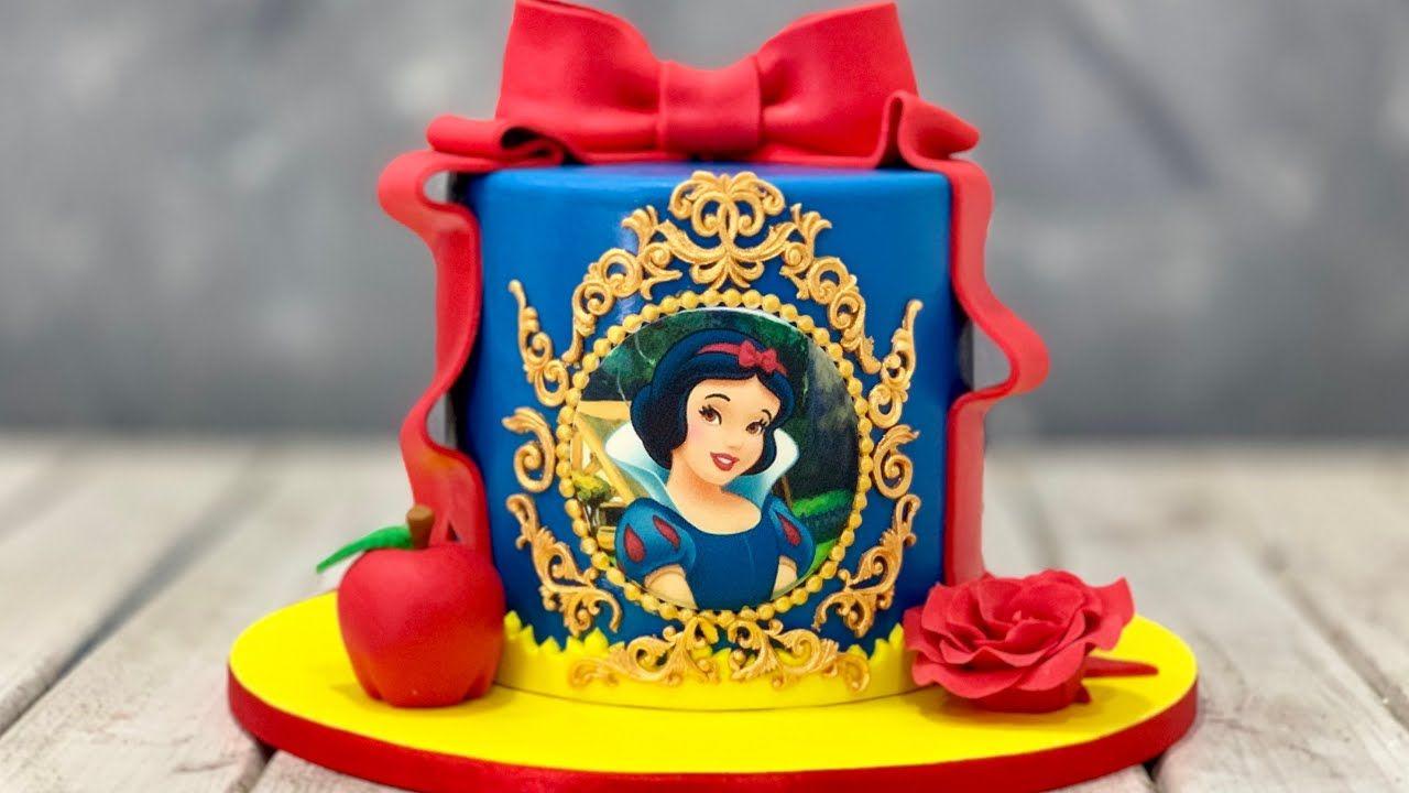 Snow White Cake | Disney Princess Cake - YouTube #snowwhite
