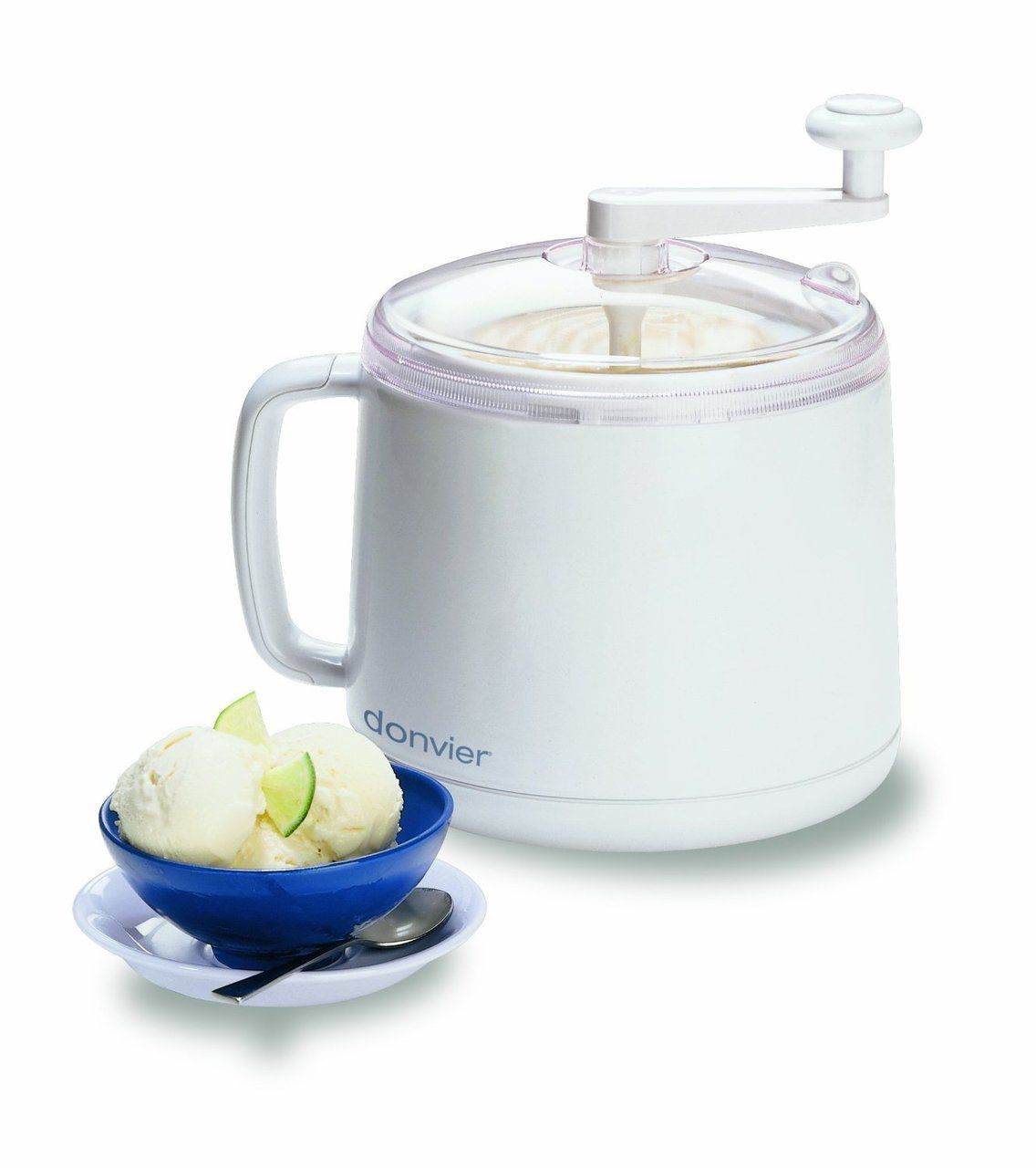 DONVIER Manual Ice Cream Maker 1-Quart White $59.95 OUT THE DOOR ...