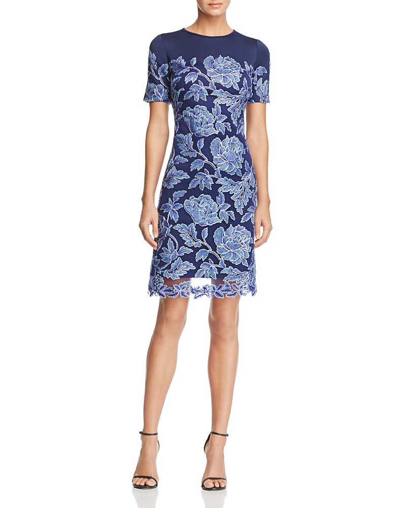 388.00$  Buy now - http://viudl.justgood.pw/vig/item.php?t=euyewmp49893 - Tadashi Shoji Petites Short Sleeve Lace Dress 388.00$