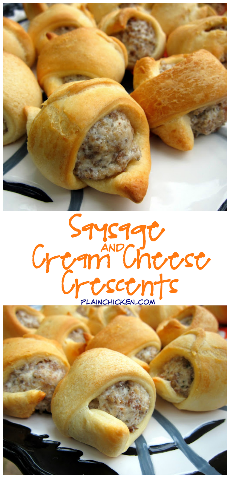 Sausage And Cream Cheese Crescents Only 3 Ingredients Great