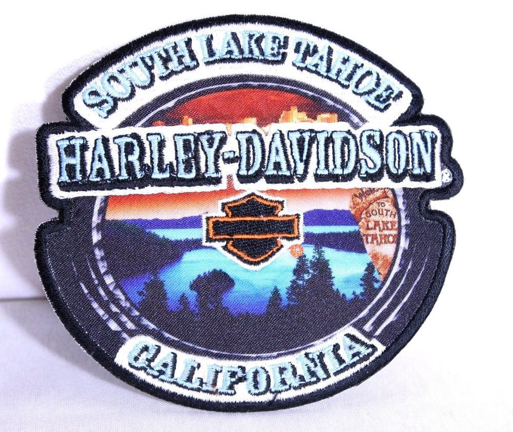 Harley Davidson Motorcycle Biker Patch South Lake Tahoe California