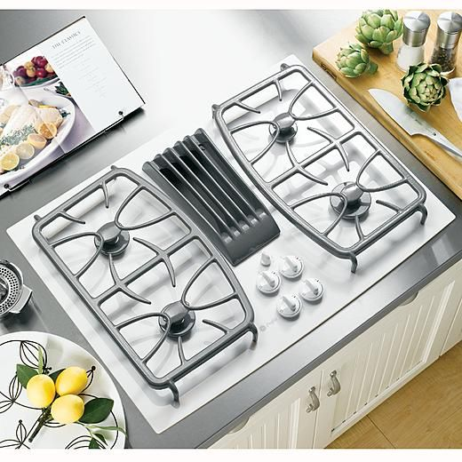 Ge Profile Profile Series 30 Gas Ceramic Glass Downdraft Cooktop Cool I Can Get Gas With A Glass Top Kitchen Island With Cooktop