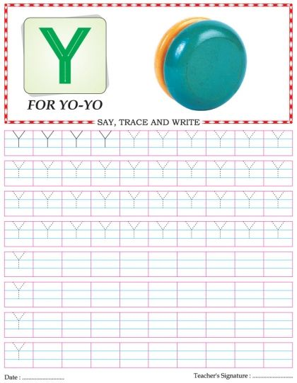 Capital Letter Writing Practice Worksheet Alphabet Y Download Free
