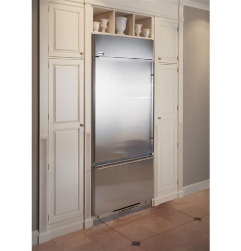 Zics360nhlh Ge Monogram 36 Built In Bottom Freezer Refrigerator Left Hinge Stainless House Design Kitchen Built In Refrigerator Farmhouse Kitchen Remodel
