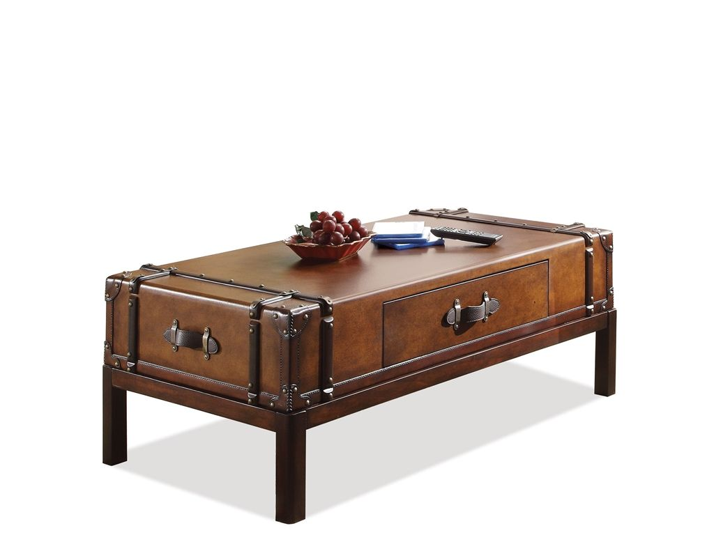Riverside Living Room Suitcase Cocktail Table 38702 Lenoir