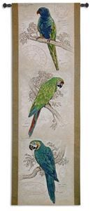 Tropical Birds Tapestry Wall Hanging by Chad Barrett