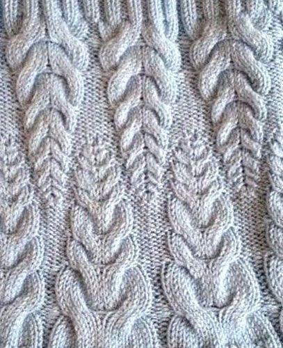 узор пшеничные колоски схема вязания спицами Pletenie Diagram